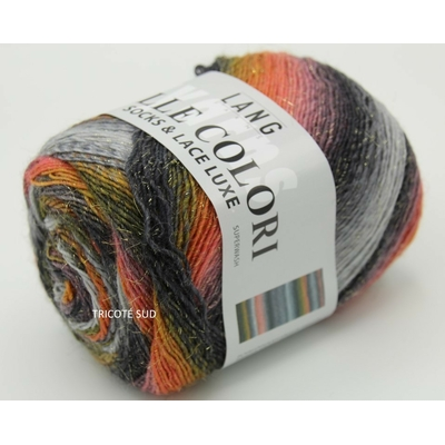 MILLE COLORI SOCKS AND LACE LUXE LANG YARNS COLORIS 24 (1) (Medium)