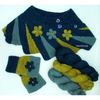 Kit tricot col et mitaines Camélia
