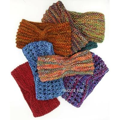 Kit tricot bandeau Ancolie version Rios de Malabrigo