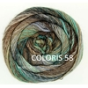 MILLE COLORI SOCKS AND LACE LUXE LANG YARNS COLORIS 58 (2) (Medium)