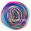 MILLE COLORI SOCKS AND LACE LUXE LANG YARNS COLORIS 106 (3) (Medium)