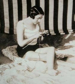 Tricoteuse plage