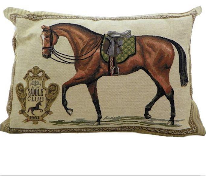 coussin cheval marrron d coration id es cadeaux 06. Black Bedroom Furniture Sets. Home Design Ideas