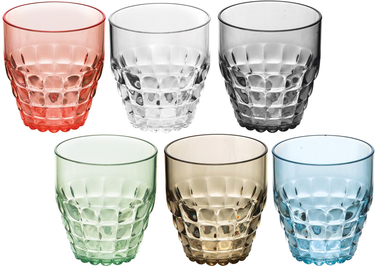 Set 6 verres BAS acryliques ASSORTIS 35 CL