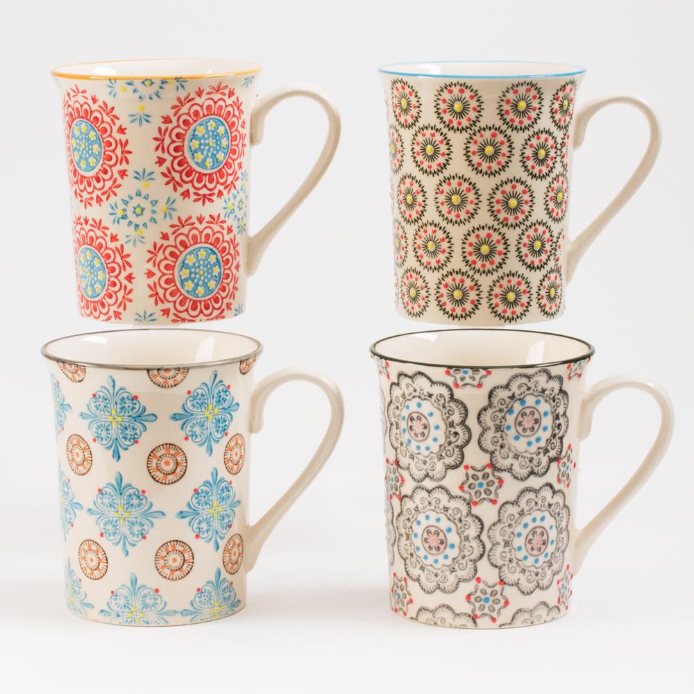 Coffret 4 mugs