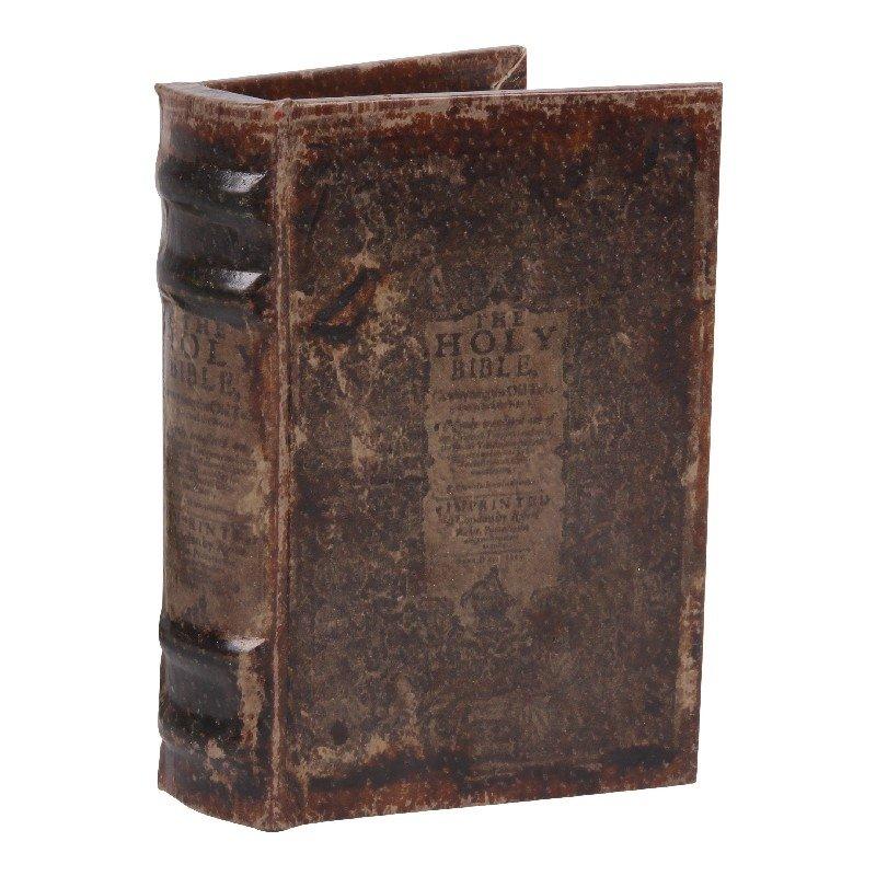 BOITE FAUX LIVRE 15 CM BIBLE