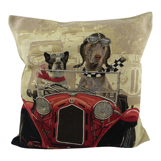 coussin chiens voiture