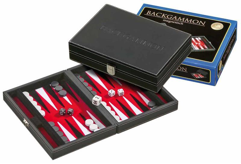 Backgammon magnétique rouge