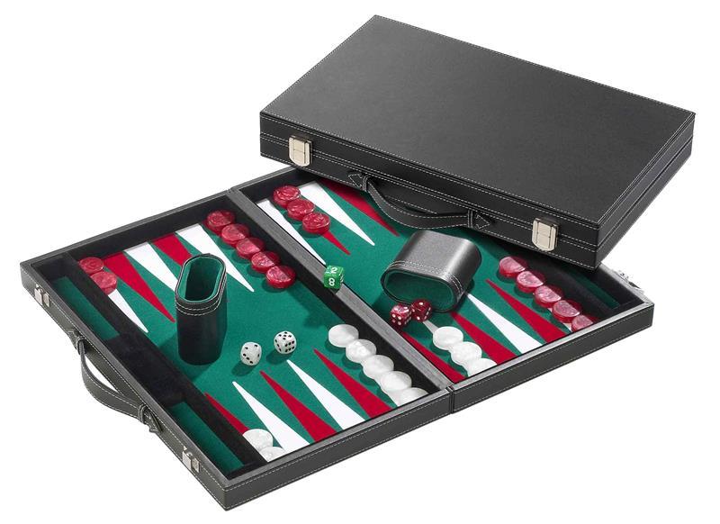 Backgammon velour vert
