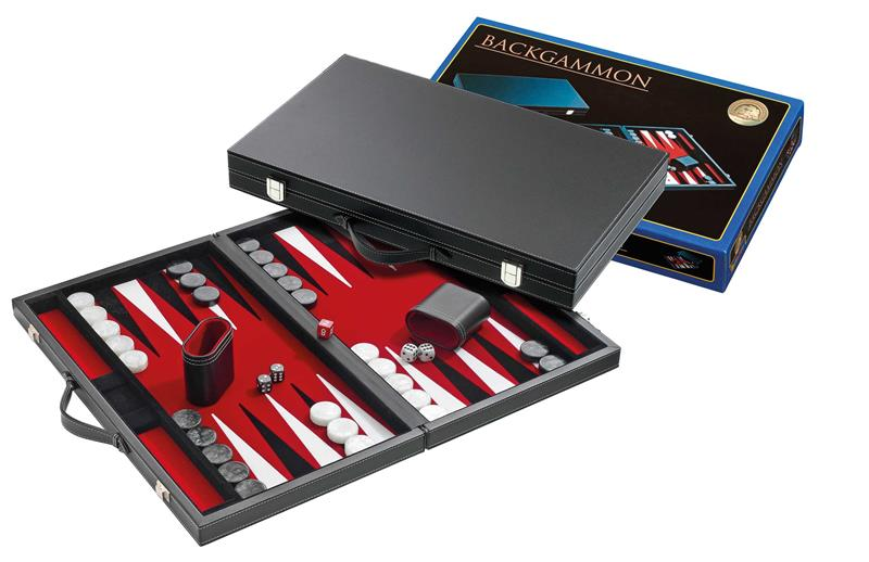 Backgammon velour rouge