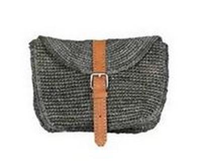 sac panier crochet porté ceinture gris