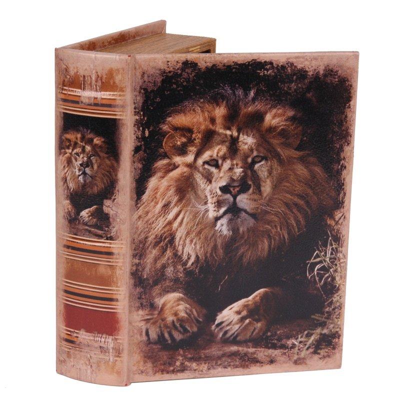 BOITE FAUX LIVRE 23 CM LION