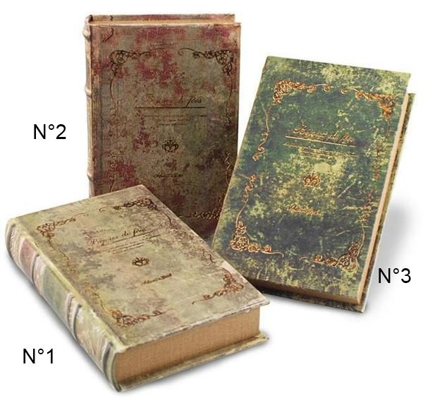boite faux livre style ancien objet d co faux livres id es cadeaux 06. Black Bedroom Furniture Sets. Home Design Ideas