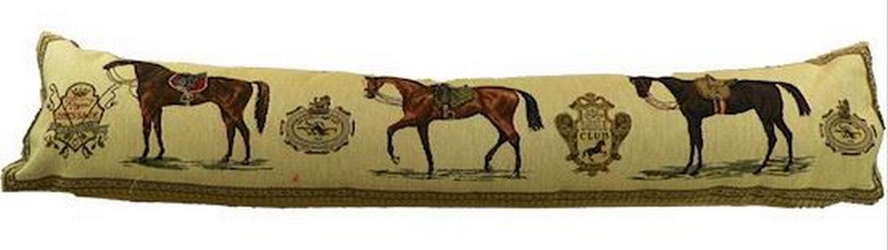 Boudin de porte chevaux style tapisseriee