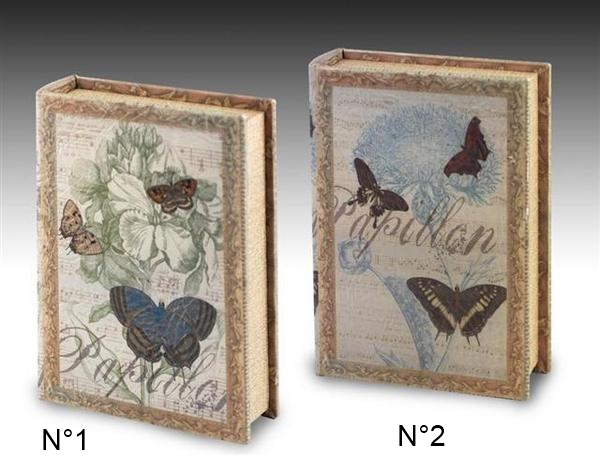 boite faux livre papillon objet d co faux livres id es cadeaux 06. Black Bedroom Furniture Sets. Home Design Ideas