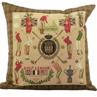 Coussin style tapisserie Golf