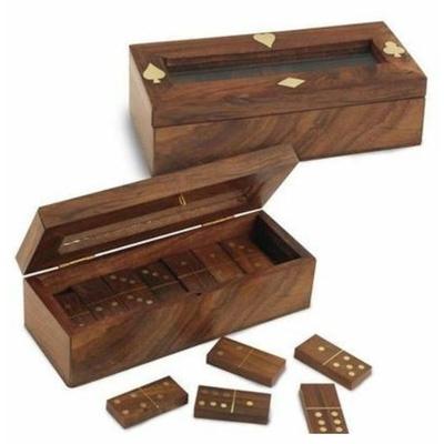 Boite jeux Dominos bois