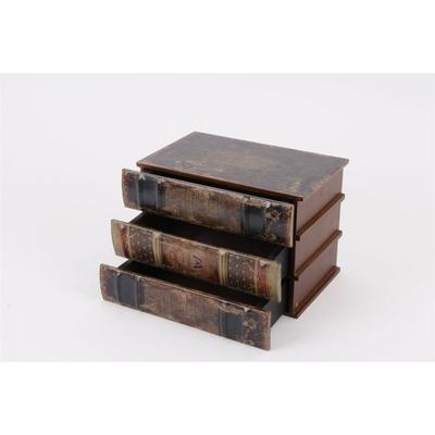 Boite faux livres 3 tiroirs