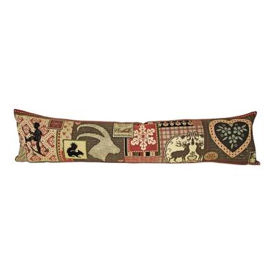 gobelin boudin de porte patchwork chalet  20x90cm