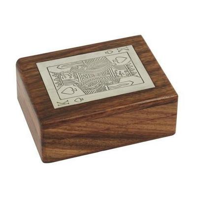 boite en bois avec jeux de cartes