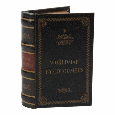 BOITE FAUX LIVRE WORLDMAP BY COLOMBUS
