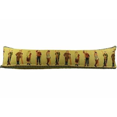 Boudin de porte ski ancien style tapisseriee