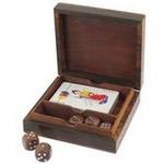 Boite jeux cartes + 5 dés bois boutique valbonne idees cadeaux le palmier aux chouettes 2