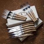 coffret prestige couteaux bois olivier laguiole boutique valbonne 2
