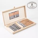coffret prestige couteaux bois olivier laguiole boutique valbonne 4