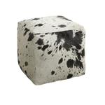 pouf artisanal  peau vache boutique valbonne