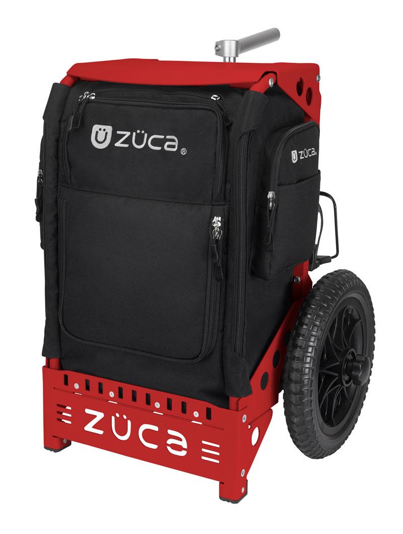 zueca-trekker-caddie-disc-golf-noir-rouge