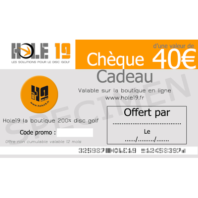 Chèque Cadeau 40€
