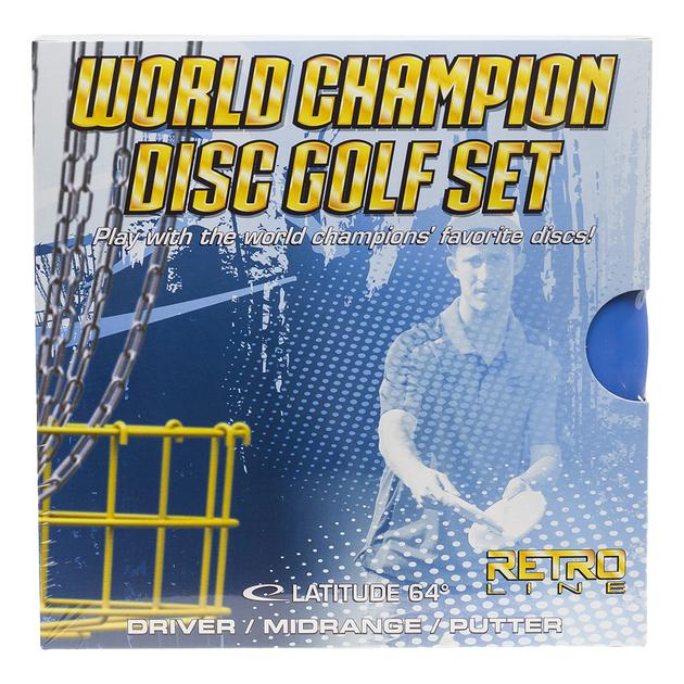 world champion retro disc golf set