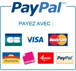 Bannière Paypal carrée avec logos des cartes de crédit