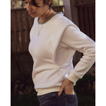 pull sweat blanc femme oeko tex douce made in france laupaline