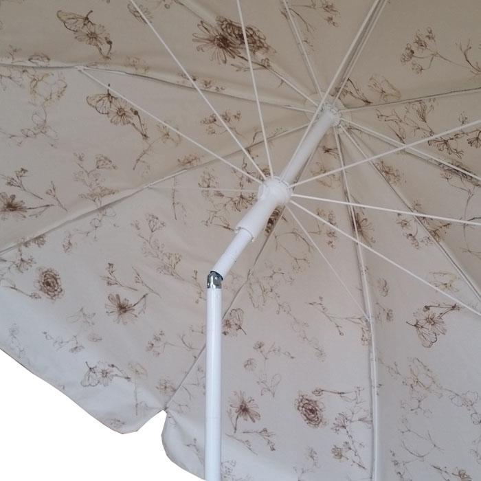 parasol rond Ø240 doublé taupe