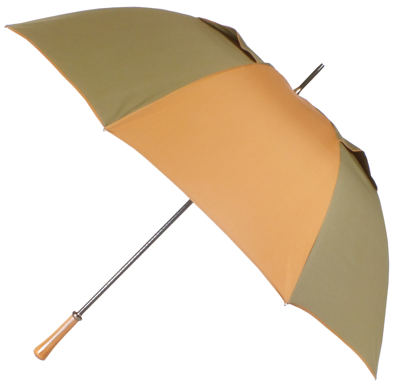parapluie golf anti-vent bronze/camel