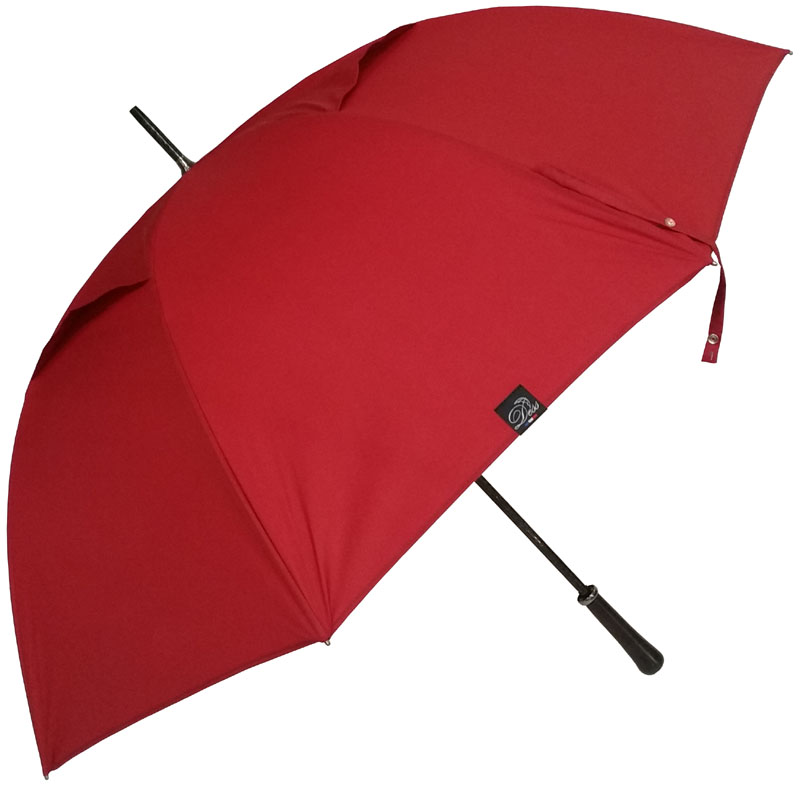 Parapluie golf anti-vent rouge carmin