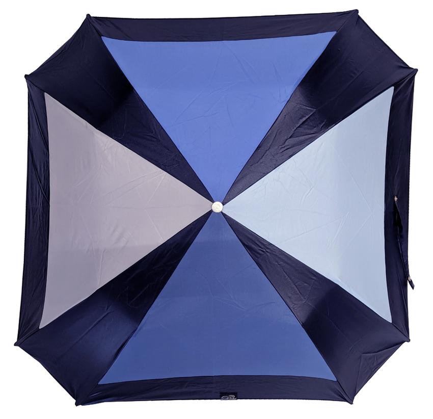 Parapluie pliant carré bleu