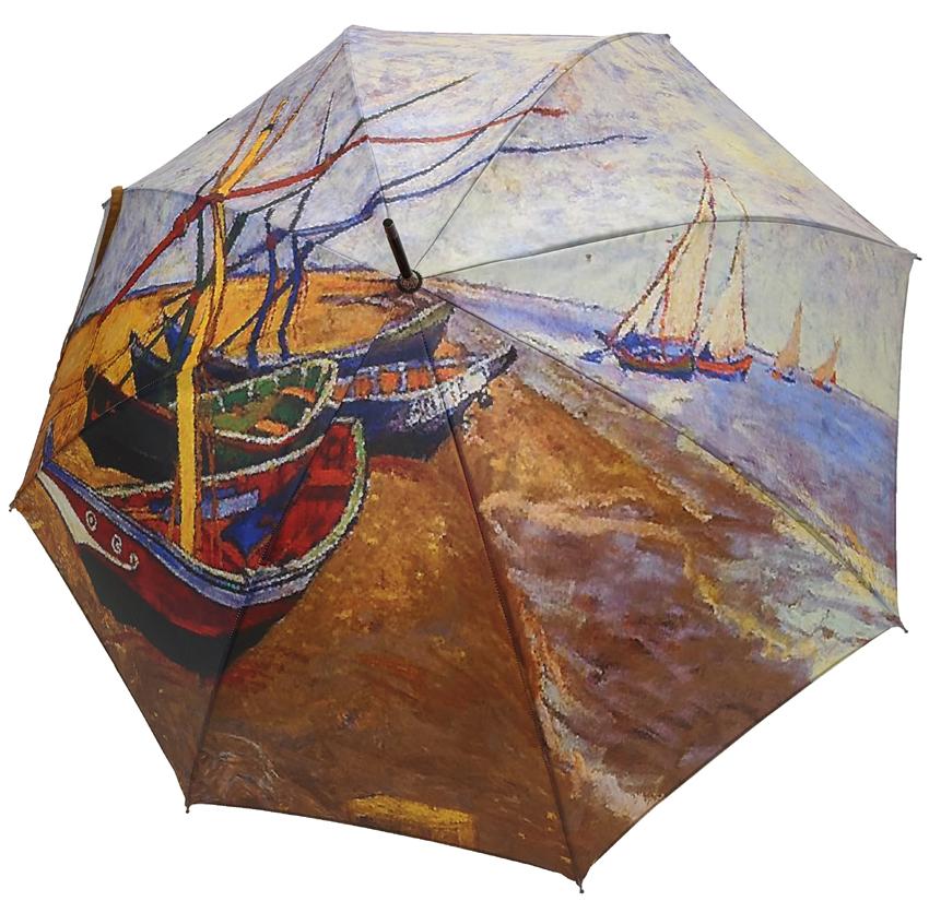 Parapluie Van Gogh Les barques aux Saintes-Maries