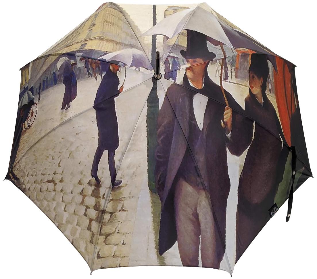 Parapluie long automatique Caillebotte Paris sous la pluie