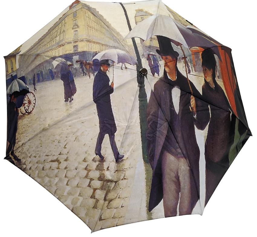 Parapluie mini automatique Paris sous la pluie