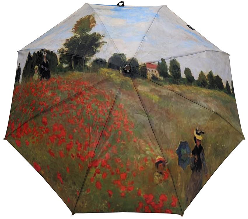 Parapluie mini automatique Renoir Champs de coquelicots