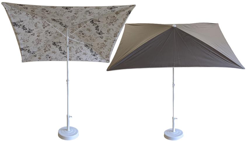 parasol rectangulaire 200x150 doublé taupe