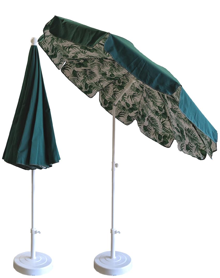 parasol rond Ø200cm doublé sapin