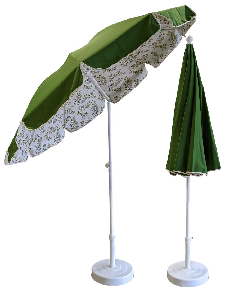 Parasol doublé Ø200 vert olive