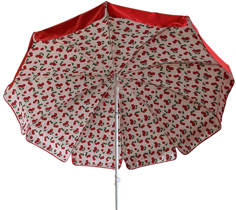 parasol rond Ø 240 doublé rouge