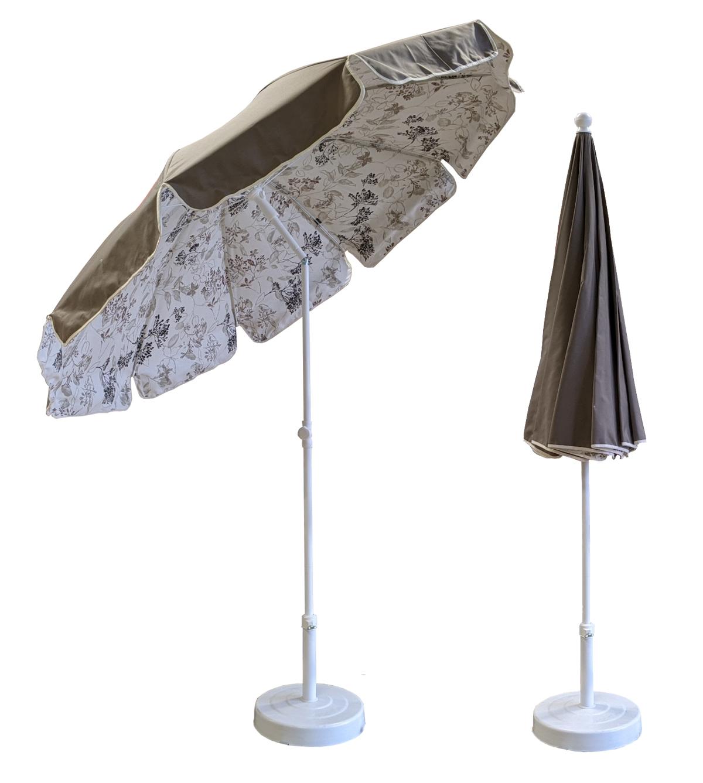 parasol rond Ø200 doublé taupe