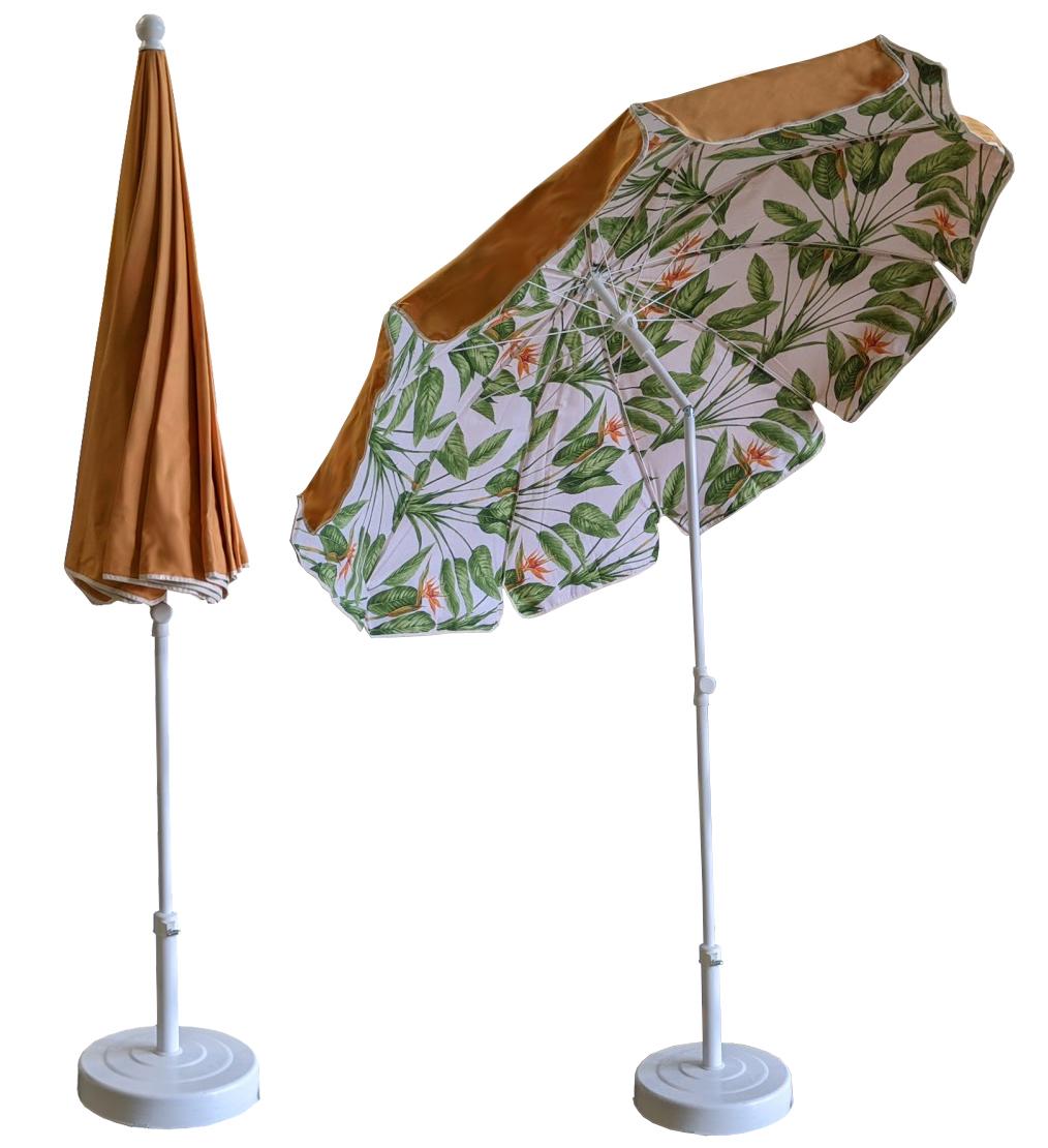 parasol rond Ø200 doublé safran