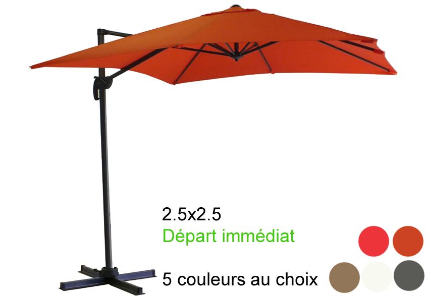 Parasol excentré 2.5x2.5 Départ immédiat !